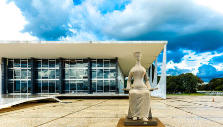 tribunal: BRASILIA, BRAZIL - CIRCA MARCH 2015: Supreme Federal Tribunal in Brasilia, Brazil Editorial