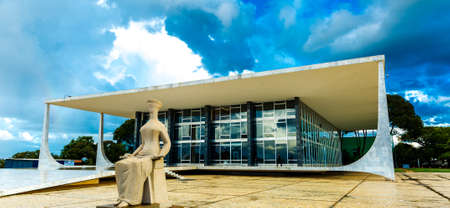 supreme: BRASILIA, BRAZIL - CIRCA MARCH 2015: Supreme Federal Tribunal in Brasilia, Brazil Editorial