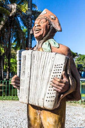 influential: PERNAMBUCO, RECIFE - CIRCA NOVEMBER 2014: Luiz Gonzaga Statue in Recife, Brazil Editorial