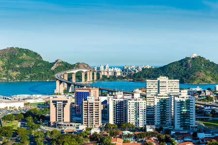 vitoria: Aerial view of Vitoria in Espirito Santo, Brazil