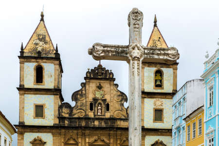 st  francis: Church of St. Francis of Assis in Salvador, Bahia, Brazil Stock Photo