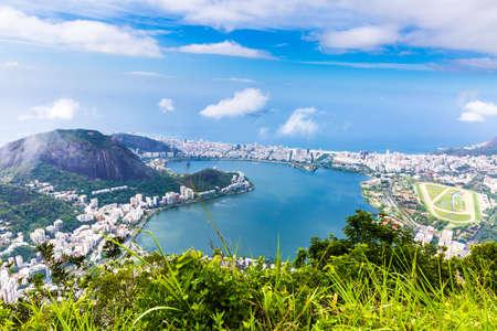 south american ethnicity: Aerial view of Rio de Janeiro, Brazil Stock Photo