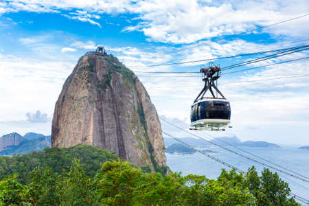 mountains and sky: The Sugarloaf Mountain in Rio de Janeiro, Brazil