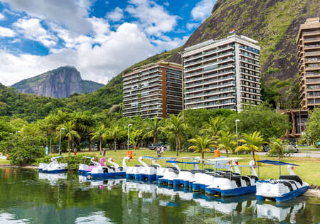 rio de janeiro: Rodrigo de Freitas Lagoon in Rio de Janeiro, Brazil