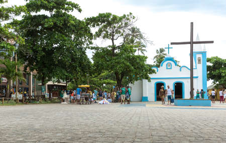 forte: PRAIA DO FORTE, BAHIA - CIRCA NOV 2014: The small city of Praia do Forte in Bahia, Brazil Editorial