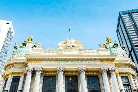 Opera House Teatro Municipal in Rio de Janeiro, Brazil - Latin America Stock Photo