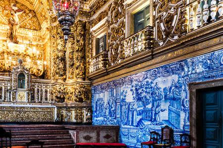 st  francis: BAHIA, BRAZIL - CIRCA NOV 2014: Church of St. Francis of Assisi in Salvador, Bahia, Brazil Editorial