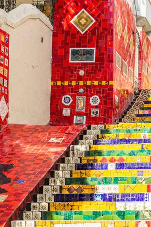 janeiro: Escadaria Selaron in Rio de Janeiro, Brazil