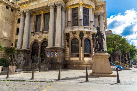 the place is important: RIO DE JANEIRO - CIRCA NOV 2014: Opera House Teatro Municipal in Rio de Janeiro, Brazil Editorial