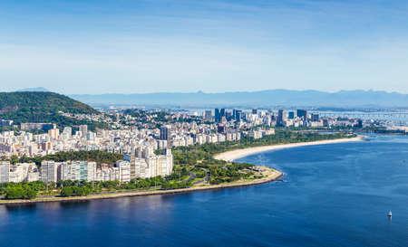 brazil beach: Aerial view of Rio de Janeiro, Brazil, Latin America