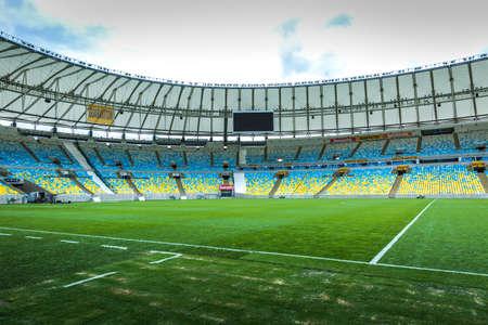 rio: RIO DE JANEIRO, BRAZIL - CIRCA MAY 2014: The Maracana Stadium located in Rio de Janeiro, Brazil