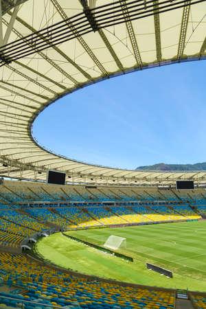 world cup: RIO DE JANEIRO, BRAZIL - NOV 03: The new Maracana Stadium on November 03, 2013 in Rio de Janeiro, Brazil. Maracana was remodelled for the World Cup of 2014 from Fifa