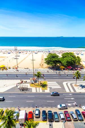 rio de janeiro: RIO DE JANEIRO, BRAZIL - CIRCA NOV 2013: Copacabana Beach in Rio de Janeiro, Brazil Editorial