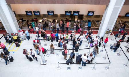 rio de janeiro: RIO DE JANEIRO, BRAZIL - CIRCA NOV 2014: Passagers at Santos Dumont Airport in Rio de Janeiro, Brazil