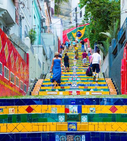rio de janeiro: Selaron stairway in Rio de Janeiro, Brazil