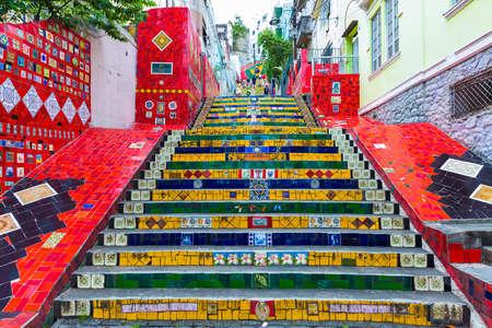 rio: Selaron stairway in Rio de Janeiro, Brazil