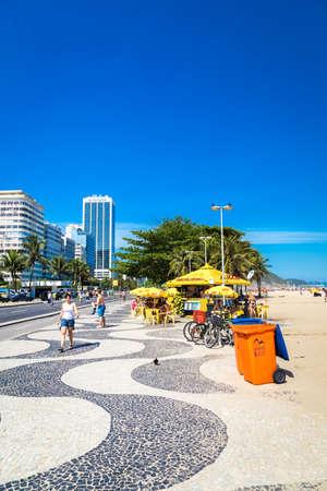 south american ethnicity: Copacabana sidewalk in Rio de Janeiro, Brazil