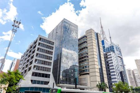 locales comerciales: Edificios en la Avenida Paulista en Sao Paulo, Brasil