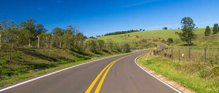 south  america: Carretera en América del Sur Foto de archivo