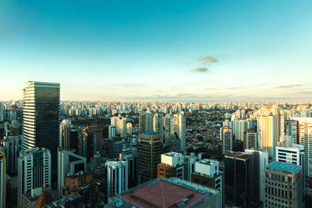 urban architecture: Sao Paulo Skyline, Brazil Stock Photo