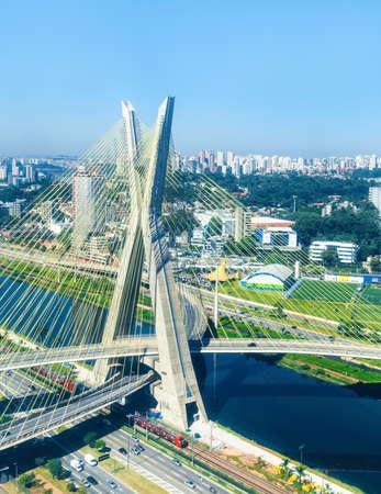 latin america: Octavio Frias Bridge in Sao Paulo, Brazil - Latin America