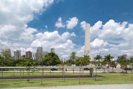 obelisk stone: Ibirapuera Park in Sao Paulo, Brazil