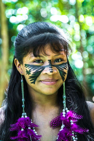 cute girl: Brazilian indian cute girl in Amazon, Brazil
