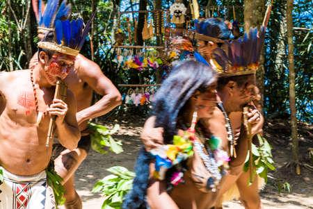 ritual: Indian tribe ritual in Amazon, Brazil
