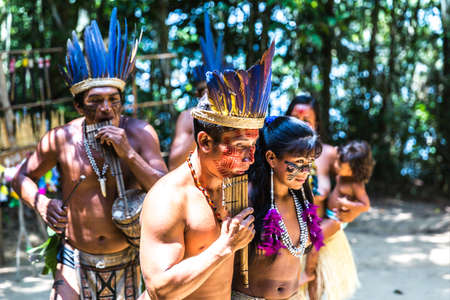 Indian tribe ritual in Amazon, Brazil