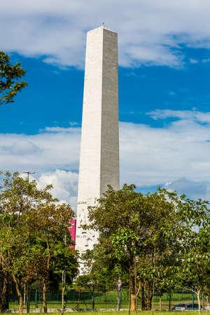 obelisk: Obelisk in Ibirapuera Park, Sao Paulo in Brazil