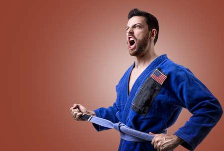 jiu jitsu: American judoka fighter man
