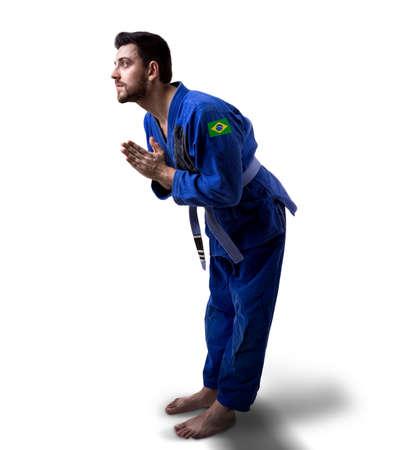 jiu jitsu: Brazilian judoka fighter man