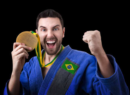 jiu jitsu: Brazilian judoka fighter man
