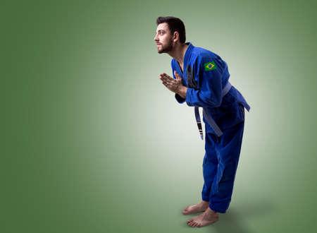 fighting styles: Brazilian judoka fighter man