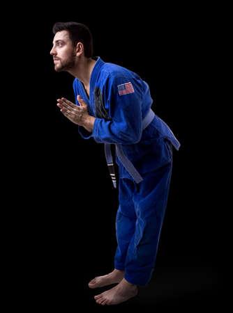 fighting styles: American judoka fighter