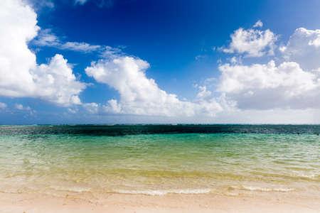 cana: Bavaro beach in Punta Cana, Dominican Republic Stock Photo