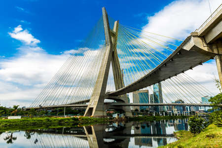 marginal: The most famous bridge in the city of Sao Paulo, Brazil