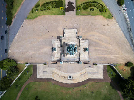 proclamation: Top view of Independence Monument in Sao Paulo, Brazil.