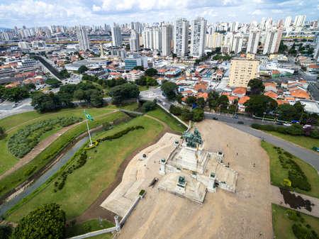 independencia: Vista a�rea de Ipiranga, en Sao Paulo, Brasil. Foto de archivo