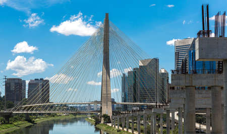 marginal: Most famous bridge in the city of Sao Paulo, Brazil.