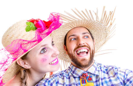 hick: Lovely Couple wearing hick clothes for the Brazilian June Festival