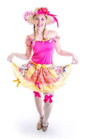 brazilian woman: Brazilian woman wearing custom for Brazilian Junina Party June Festival