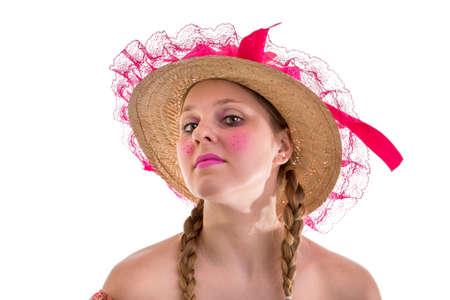 pretty blonde girl: Brazilian woman wearing custom for Brazilian Junina Party June Festival