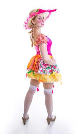 brazilian woman: Brazilian woman wearing costume for Brazilian Junina Party Festa Junina