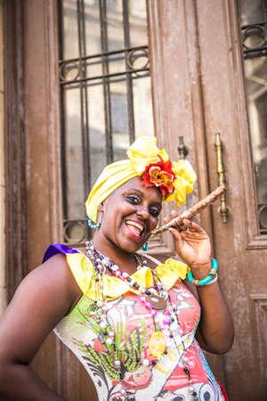 Portrait of african cuban woman