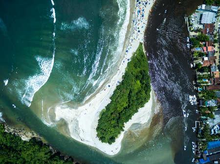 overcrowd: Top View of Barra do Una, Brazil