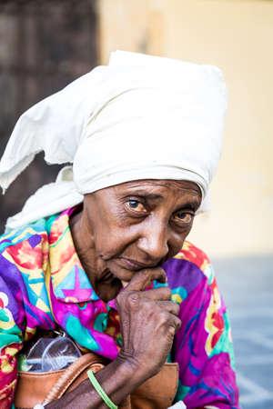 mujeres morenas: Retrato de una mujer cubana