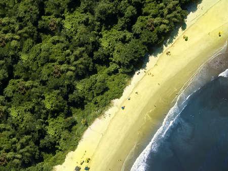 sandal tree: Aerial view of beach Stock Photo