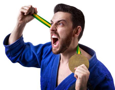 jiu jitsu: judoka fighter man
