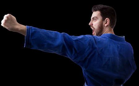 fighting styles: judoka fighter man